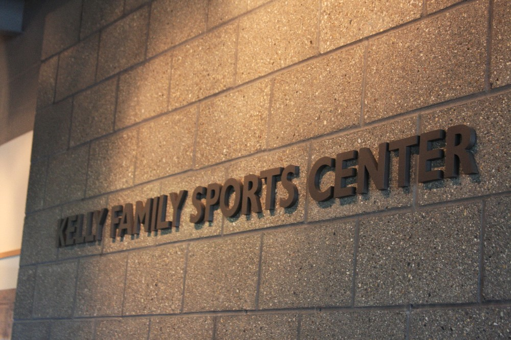 Kelly Family Sports Center Sign